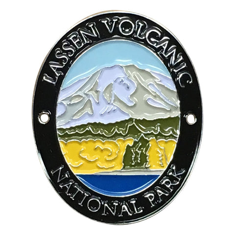 Lassen Volcanic National Park Walking Hiking Stick Medallion - Official Traveler Series - California