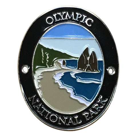 Olympic National Park Walking Hiking Stick Medallion - Official Traveler Series - La Push, Beach