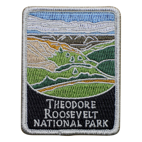 Theodore Roosevelt National Park Patch - Official Traveler Series - North Dakota (Iron on)