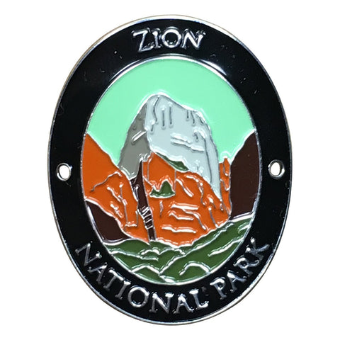 Zion National Park Walking Hiking Stick Medallion - Official Traveler Series - Utah