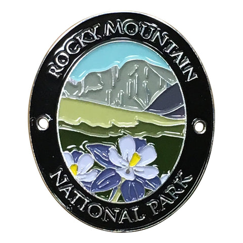Rocky Mountain National Park Walking Hiking Stick Medallion - Official Traveler Series - Colorado