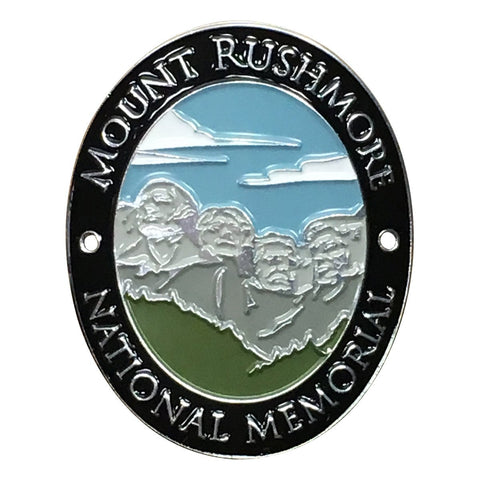 Mount Rushmore National Memorial Walking Stick Medallion - Washington, Jefferson, Roosevelt, Lincoln