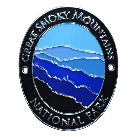 Great Smoky Mountains National Park Walking Hiking Stick Medallion - Official Traveler Series