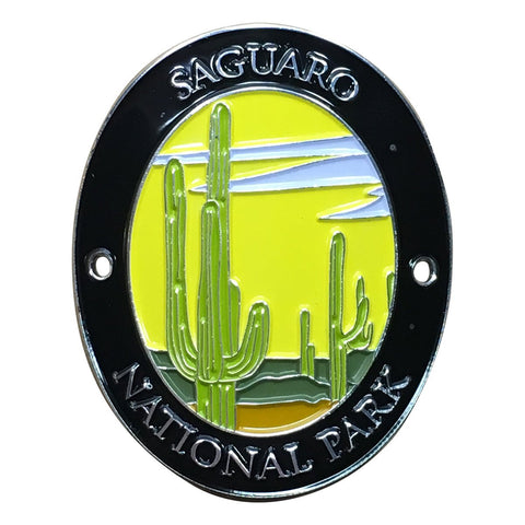 Saguaro National Park Walking Hiking Stick Medallion - Official Traveler Series - Cactus and Desert, Arizona