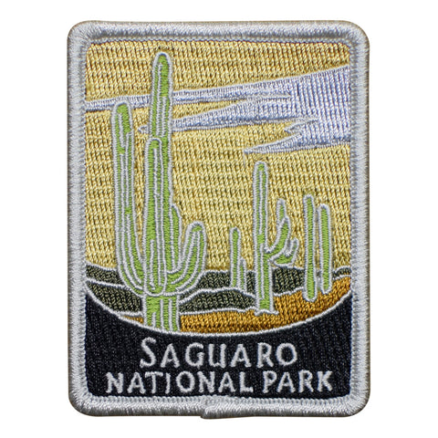 Saguaro National Park Patch - Official Traveler Series - Cactus and Desert, Arizona (Iron on)