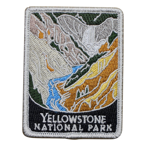 "Yellowstone National Park Patch - Wyoming, Old Faithful Badge 3"" (Iron on)"