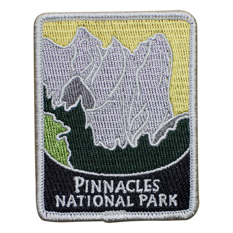 "Pinnacles National Park Patch - Volcanic Mountains, California 3"" (Iron on)"
