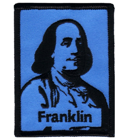 "Benjamin Franklin Patch - Founding Father, Writer, Inventor 3"" (Iron on)"