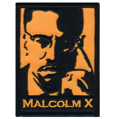 "Malcolm X Patch - Human Rights, Civil Liberties, Activism 3"" (Iron on)"