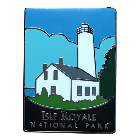 Isle Royale National Park Pin - Official Traveler Series - Rock Harbor Lighthouse, Michigan