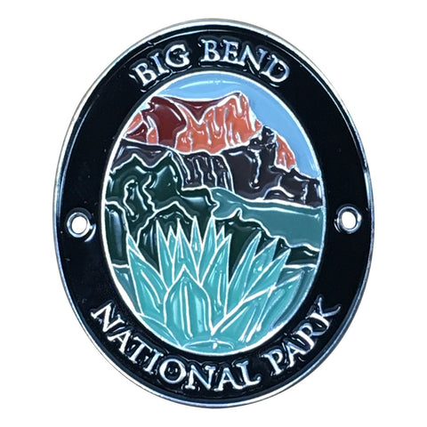 Big Bend National Park Walking Hiking Stick Medallion - Official Traveler Series - Texas