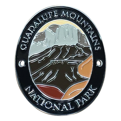 Guadalupe Mountains National Park Walking Hiking Stick Medallion - Official Traveler Series - West Texas