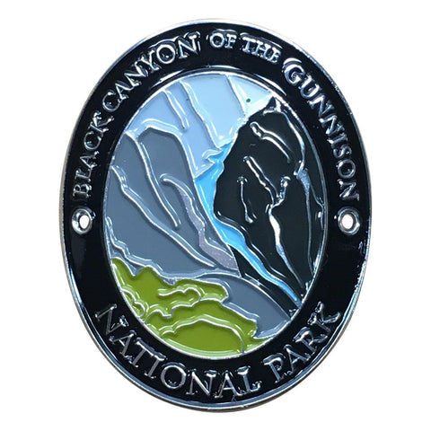 Black Canyon National Park Walking Hiking Stick Medallion - Official Traveler Series - Colorado