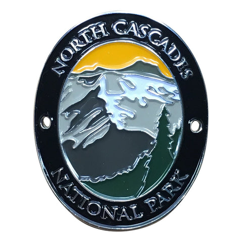 North Cascades National Park Walking Hiking Stick Medallion - Official Traveler Series - Washington