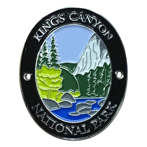 Kings Canyon National Park Walking Hiking Stick Medallion - Official Traveler Series - Sierra Nevada, California