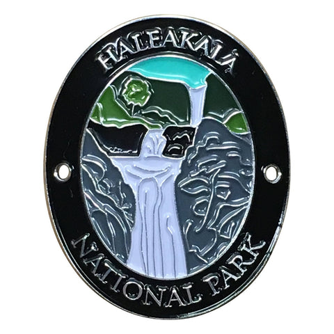 Haleakala National Park Walking Hiking Stick Medallion - Official Traveler Series - Palikea Stream, Maui, Hawaii