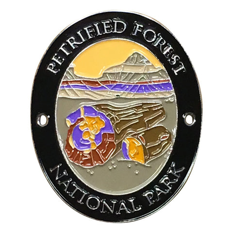 Petrified Forest National Park Walking Stick Medallion - Navajo, Apache, Arizona