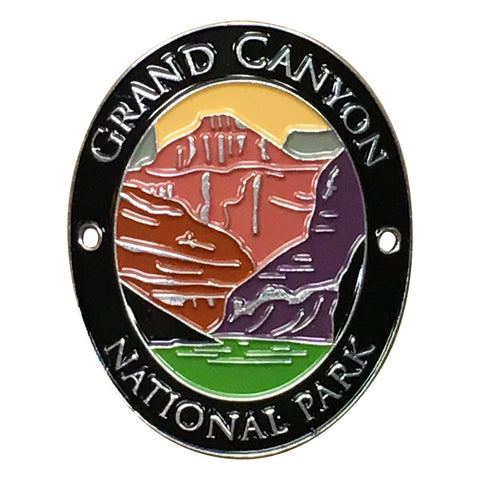 Grand Canyon National Park Walking Hiking Stick Medallion - Official Traveler Series - Arizona