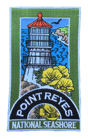Point Reyes National Seashore Patch - Marin County, California (Iron on)