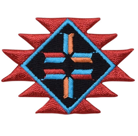 Native American Indian Southwest Style Applique Patch  (Iron On)