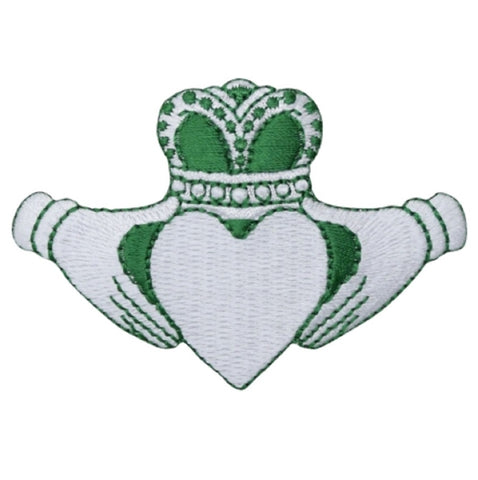 "Claddagh Applique Patch - Heart, Love, Irish Badge 3"" (Iron on)"