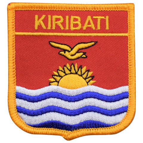 "Kiribati Patch - Tarawa Atoll, Banaba, Pacific Ocean Badge 2.75"" (Iron on)"