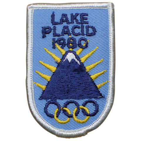 "Vintage Olympics Patch - Lake Placid, New York, XIII Winter Games 3"" (Sew on)"
