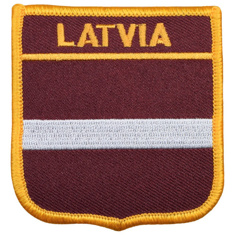 "Latvia Patch - Baltic Sea, Riga, Courland Peninsula Badge 2.75"" (Iron on)"