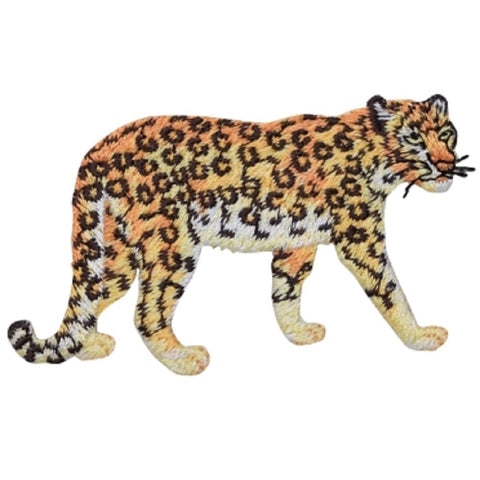 "Leopard Applique Patch - Cougar, Cheetah, Panther Badge 3-3/8"" (Iron on)"