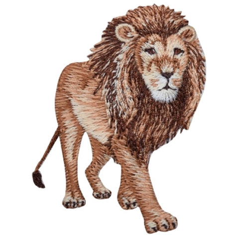 "Lion Applique Patch - Leo, Zookeeper Badge 2.75"" (Iron on)"
