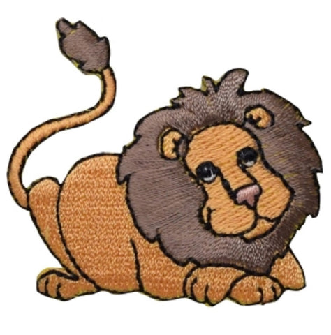 "Lion Applique Patch - Leo, Zookeeper Badge 2"" (Iron on)"