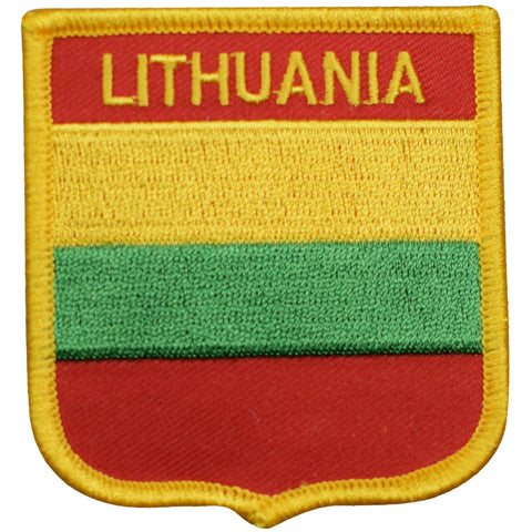 "Lithuania Patch - Baltic Sea, Vilnius, Curonian Lagoon 2.75"" (Iron on)"