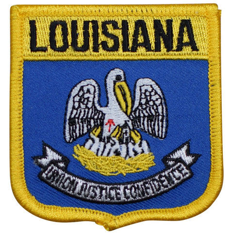 "Louisiana Patch - Mississippi River, Baton Rouge, New Orleans 2.75"" (Iron on)"