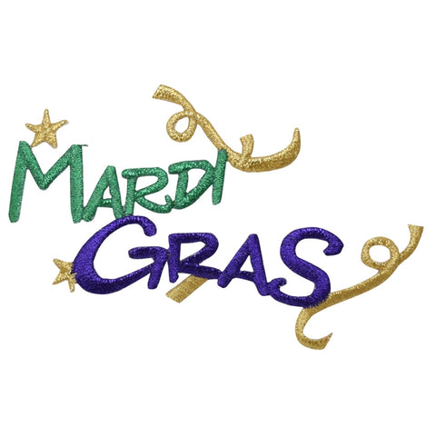 "Mardi Gras Applique Patch - New Orleans, Louisiana Badge 4"" (Iron on)"