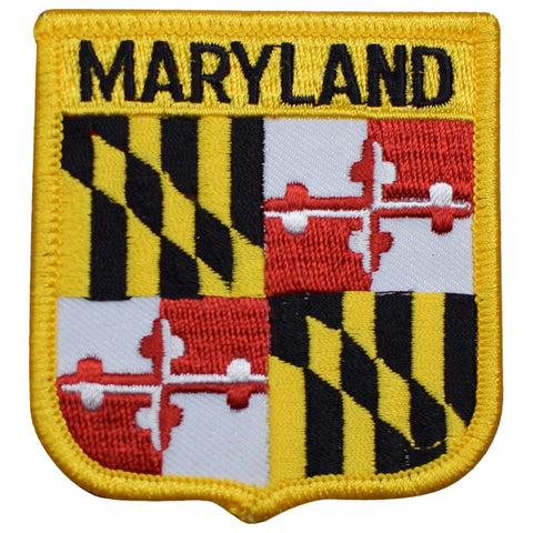 "Maryland Patch - Baltimore, Annapolis, Chesapeake Bay, Piedmont 2.75"" (Iron on)"