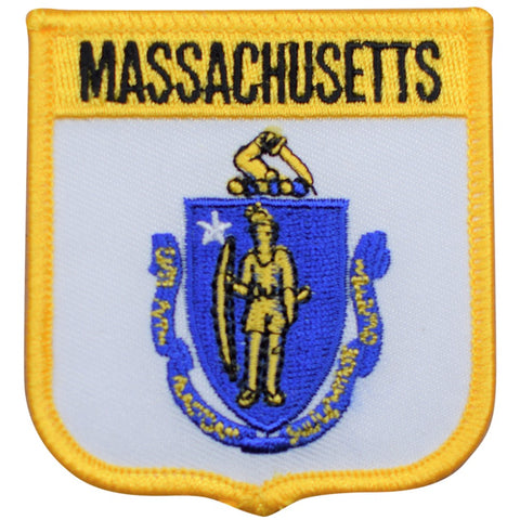 "Massachusetts Patch - New England, Boston, Plymouth, Salem 2.75"" (Iron on)"