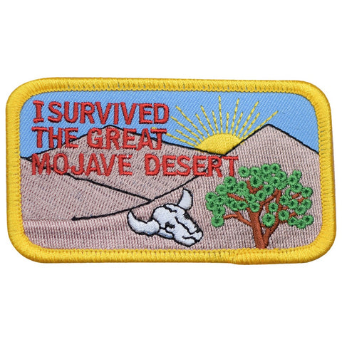 "Mojave Desert Patch - California Desert, Joshua Tree, Skull Badge 3-5/8"" (Iron On)"