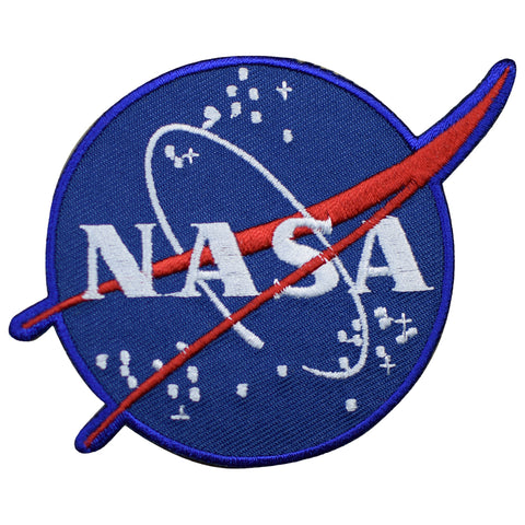 "NASA Patch - USA, Astronaut, Official Space Program Badge 4-1/8"" (Iron on)"