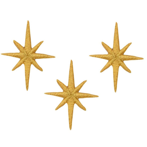 "Nativity Star Applique Patch - Space, Galaxy, Universe 1.25"" (3-Pack, Iron on)"