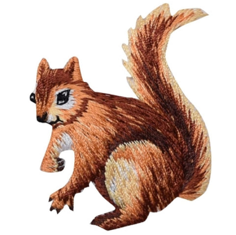 "Squirrel Applique Patch - Animal Badge 1.75"" (Iron on)"