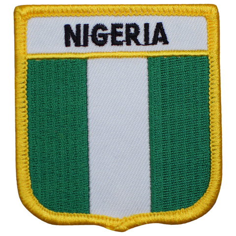 "Nigeria Patch - West Africa, Gulf of Guinea, Abuja, Lagos 2.75"" (Iron on)"