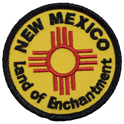 "New Mexico Patch - Land of Enchantment, NM Badge 2.5"" (Iron on)"
