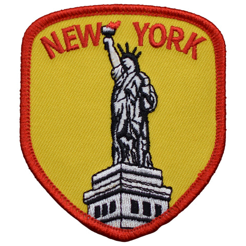 "New York Patch - Statue of Liberty, Manhattan, NY Badge 3-1/8"" (Iron on)"