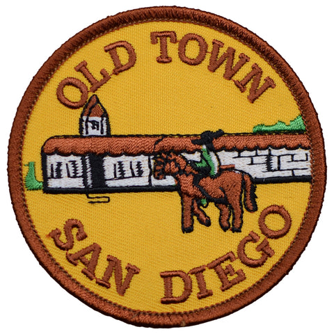 "San Diego Patch - Old Town, California, Spaniards, Mission SD 3"" (Iron on)"
