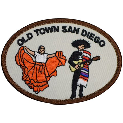 "San Diego Patch - Old Town, California, Spaniards, Mission SD 3.5"" (Iron on)"