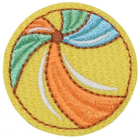"Beach Ball Applique Patch - Sand Toys Badge 1.5"" (Iron on)"