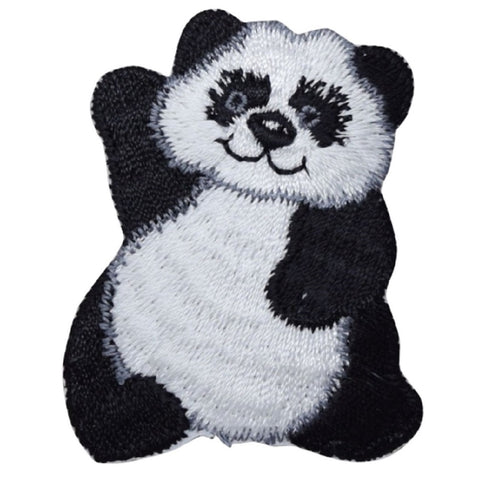 "Panda Applique Patch - Giant Panda, Cub, Bear, Sichuan, China 2-3/8"" (Iron on)"