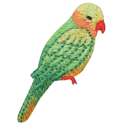 "Parrot Applique Patch - Yellow Headed Amazon Bird 2-1/8"" (Iron on)"