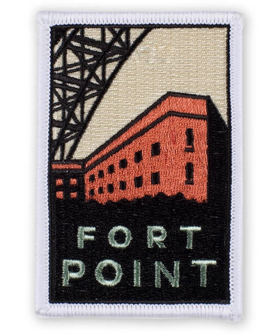 "Fort Point Patch - Golden Parks San Francisco California 3-5/8"" (Iron on)"