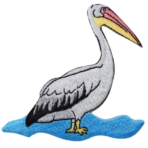 "Pelican Applique Patch - Water Bird, Fowl Badge 3"" (Iron On)"